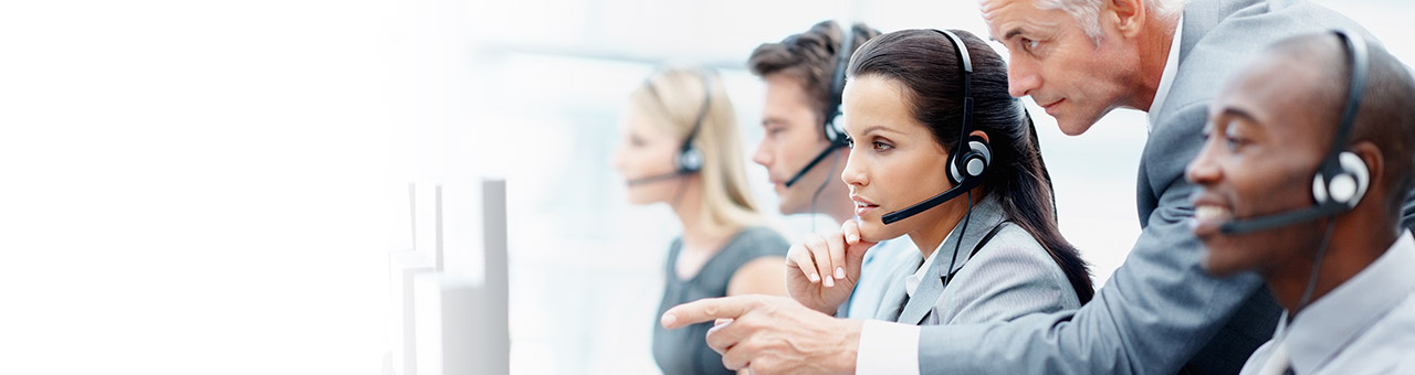 Image of a help desk call center