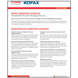 Kofax Power PDF Advanced Brochure