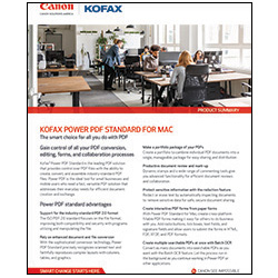 Kofax Power PDF Standard for Mac Brochure